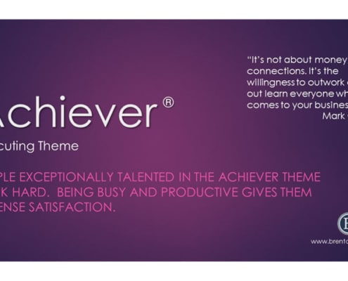 Achiever Executing Theme
