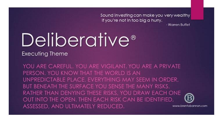 Deliberative Executing Theme