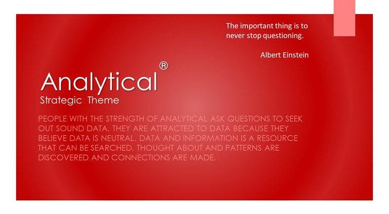 Analytical Strategic Theme