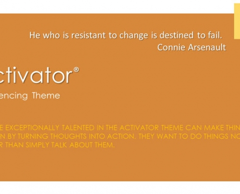 Activator Influencing Theme