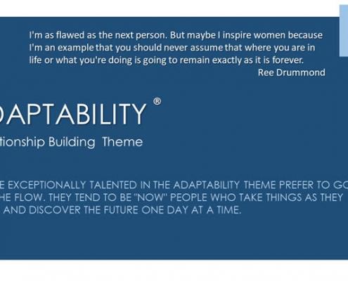 Adaptability Relationship Building Theme
