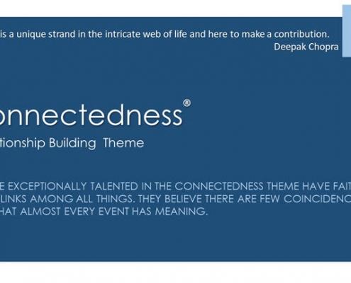 Connectedness Relationship Building Theme