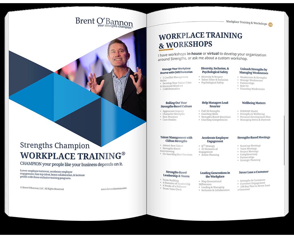 Workplace Training Brochure Image