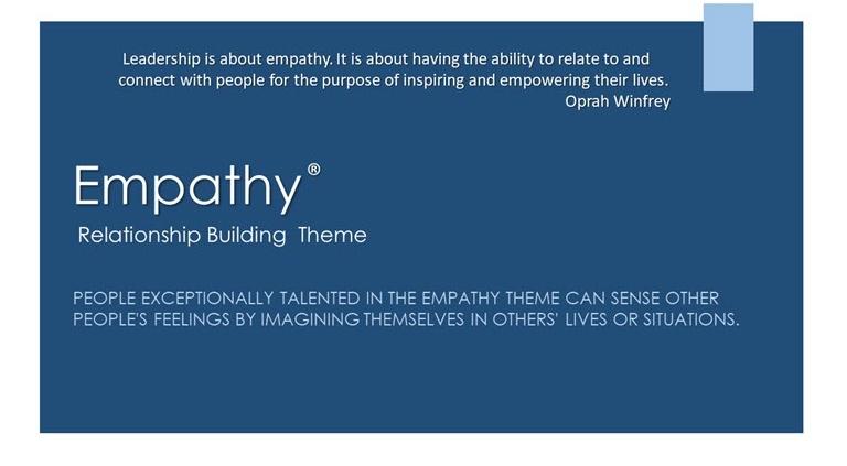 Empathy Relationship Building Theme