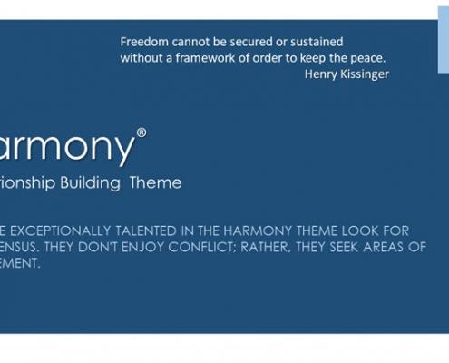 Harmony Relationship Building Theme