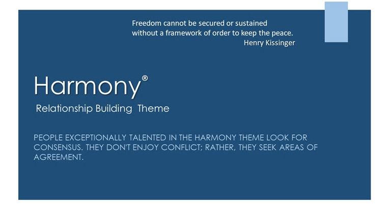 Harmony Relationship Building Theme