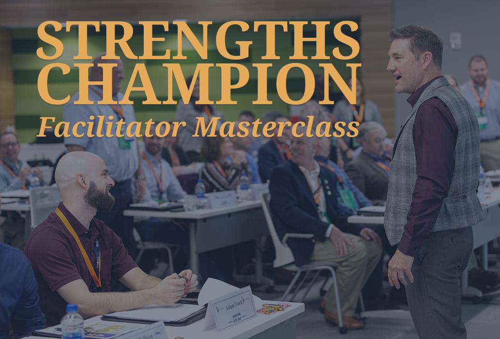 Strengths Champion Facilitator Masterclass webcard